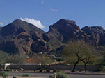 View of Camelback Mountain in Paradise Valley, Arizona