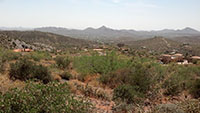 Desert overlooking Cave Creek AZ in August 2013. Photo by Tony Pomykala